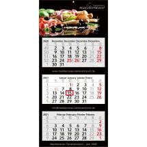Mehrblock-Monatskalender Profil 3 - hellgrau