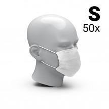 """Mund-Nasen-Schutz """"3-Ply"""" 50er Set, Größe S, weiß"""
