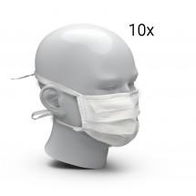 Behelfsmundschutz aus FFP2-Vlies, 10er Set, weiß