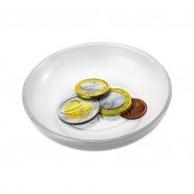 Spielgeldschälchen, transparent-milchig