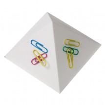 """Büroklammernhalter """"Magnet-Pyramide"""", weiß"""