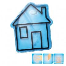"""Gel-Wärmekissen """"Haus"""" - blau"""