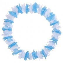 Blumenkette Bavaria, weiß/blau