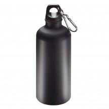 "Aluminiumflasche ""Sporty"" 0,6 l matt, schwarz"