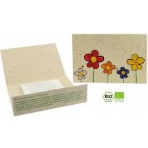 Graspapier-Kärtchen Bienenwiese