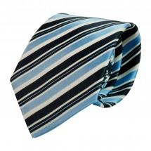 Krawatte, Reine Seide, jacquardgewebt - hellblau