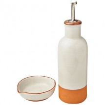 Terracotta-Sprenkler und Dip-Set- orange