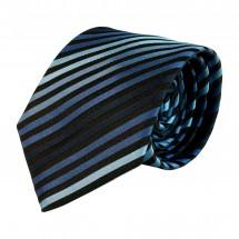 Krawatte, Reine Seide, jacquardgewebt - blau