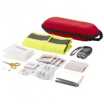 46 teiliges Erste Hilfe Set und professionelle Warnweste - rot