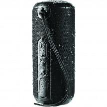 Rugged wasserdichter Bluetooth® Lautsprecher mit Stoffbezug - schwarz