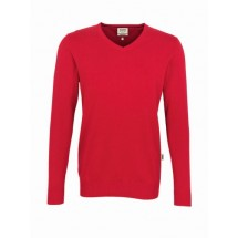 V-Pullover Premium-Cotton-rot