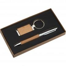 Metall-Holz-Geschenkset Enschede - braun