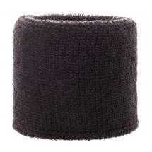 Frottier Armschweißband 6cm - schwarz