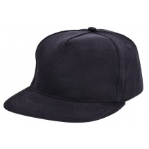Brushed Baseballkappe - schwarz
