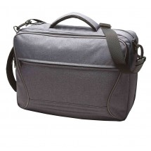 Combi bag ATTENTION - blau/grau/meliert