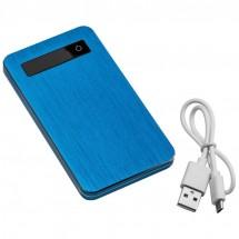 Powerbank 4000 mAh mit USB Anschluss - blau