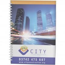 Desk-Mate® A5 Notizbuch Wire-O-Bindung Kunststoff-Umschlag - weiss