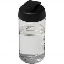 H2O Bop® 500 ml Sportflasche mit Klappdeckel - transparent/schwarz