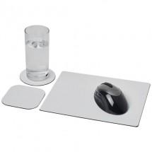 Brite-Mat® Mauspad- und Untersetzer-Set 1- schwarz