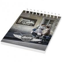 Desk-Mate® A6 Notizbuch mit Kunststoff Cover und Spiralbindung- weiss