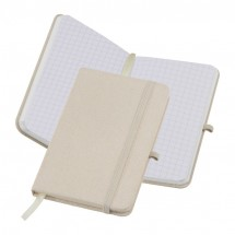 Notizbuch Canvas A6 - beige