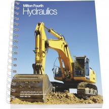 Desk-Mate® A6 Notizbuch Kunststoffumschlag - weiss