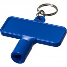 Maximilian rechteckiger Universalschlüssel mit Schlüsselanhänger - blau