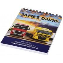 Desk-Mate® A6 Notizbuch mit Spiralbindung- weiss/schwarz