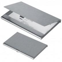 Visitenkartenetui aus Aluminium - grau