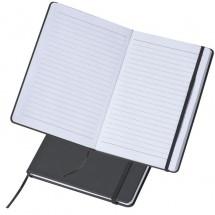 A5 Notizbuch mit linierten Seiten - schwarz