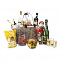 Geschenkset: Geschenkkorb XXL - Einkaufskorb mit 14 leckeren Produkten