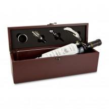 Geschenkset: Weinaccessoire-Kiste
