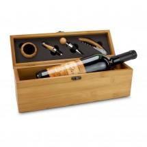 Geschenkset: Wein in Bambuskiste