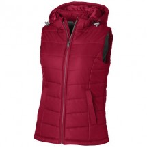 Mixed Doubles Damen Bodywarmer mit Kapuze - rot