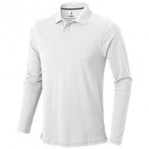Oakville Langarm Poloshirt - weiss