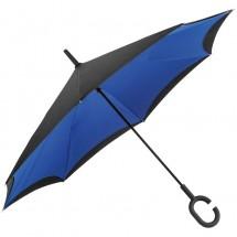 Umklappbarer Regenschirm aus 190T Pongee mit Griff zum Einhängen am Handgelenk - blau