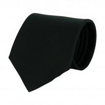 Krawatte, 100% Polyester Twill, uni - schwarz