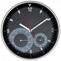 Uhr, Hygro - und Thermometer - schwarz