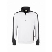 Zip-Sweatshirt Contrast Performance-weiß/anthrazit