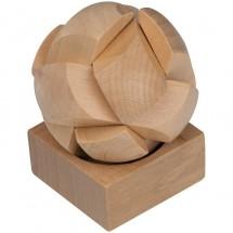 Geduldspiel aus Holz - beige