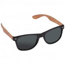 Sonnenbrille mit Bügeln in Bambusoptik - beige