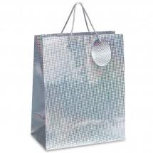 Geschenktüte REFLECTS-PINOLE L SILVER - silber
