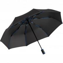 Taschenschirm FARE®-AOC-Mini Style - schwarz-euroblau