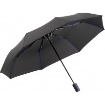 Taschenschirm FARE®-AC-Mini Style - schwarz-euroblau