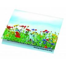 Klappkärtchen Blumenstrauß