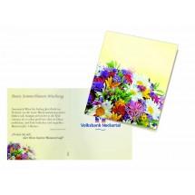 Klappkärtchen Bunte Blumenwelt