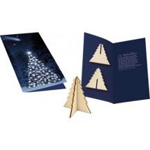 Weihnachtskarte Wintertanne