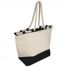 Strandtasche mit Kordel - schwarz
