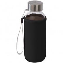 Trinkflasche mit Sleeve aus Neopren, 300 ml - schwarz