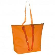 Strandtasche mit transparenten Henkeln - orange
